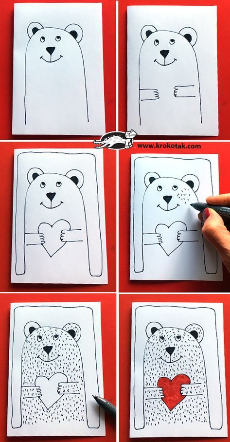 How to draw Valentines #craft. Tekenen voor Valentijnsdag #knutselen