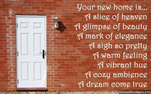 Congratulations messages for new home: New home messages
