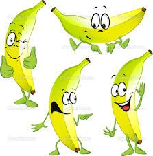 Afbeeldingsresultaat voor cartoon banaan