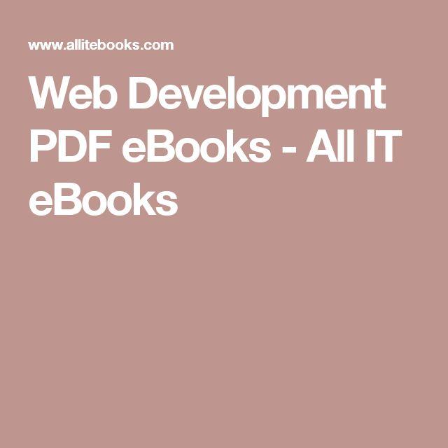 Web Development PDF eBooks - All IT eBooks