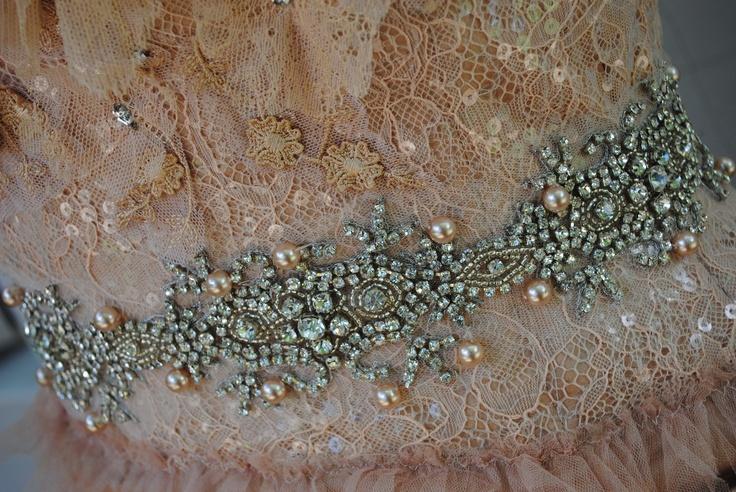 Vesselina Pentcheva wedding dress detail
