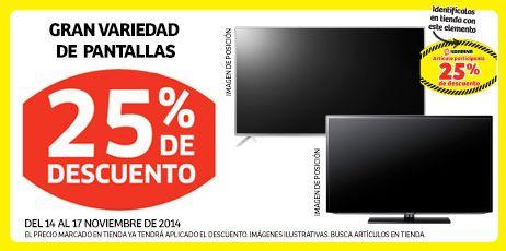25% de descuento en gran variedad de pantallas, en Soriana. Buen Fin, del 14 al 17 noviembre de 2014. #Promo #BuenFin
