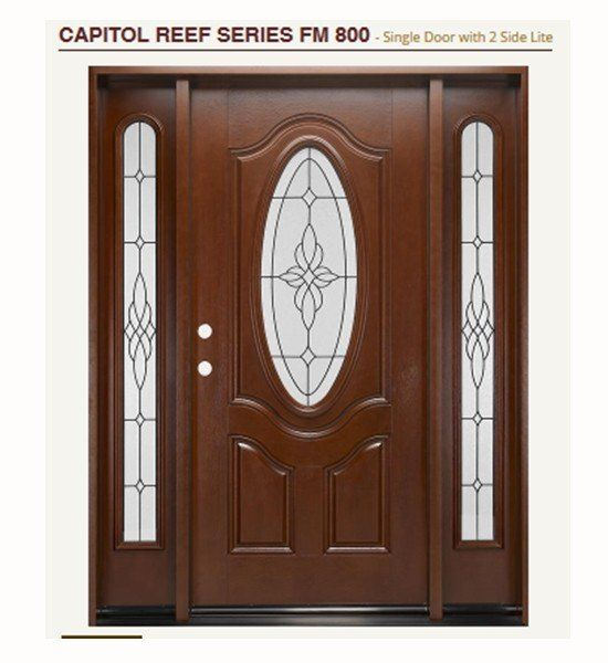Fiberglass Exterior Doors With Large Glass For Modern House   Http://www.