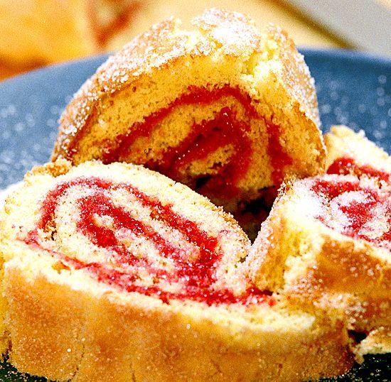 Rulltårta med hallonsylt | Recept.nu