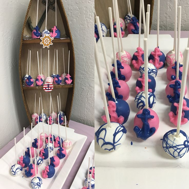 Nautical Baby Shower Cake Pops (boyu0026girl)