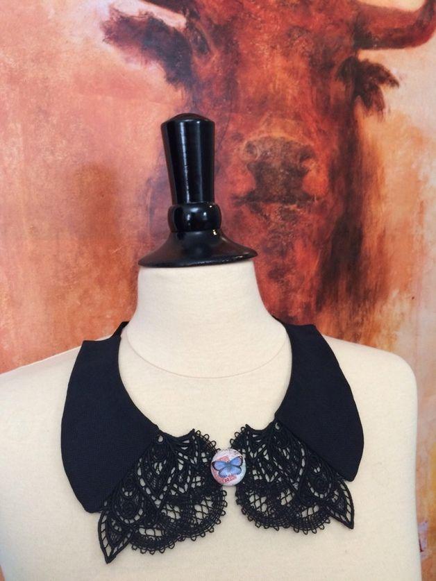 """Kragen - Kragenkette """"Black Side"""" - ein Designerstück von buntamix bei DaWanda"""