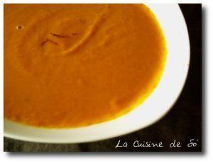 Velouté de carottes au safran | La Cuisine de So