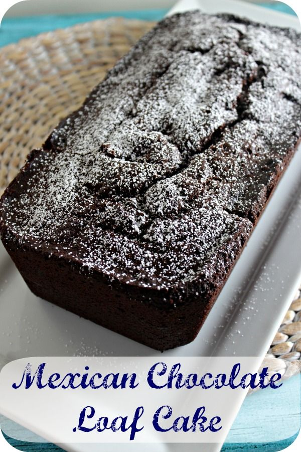 Mexican Chocolate Loaf Cake - rich and chocolatey but with a hint of spice - now don't you want to have a slice with your morning coffee (or tea). #CakeForBreakfast http://cookinginstilettos.com/mexican-chocolate-loaf-cake/ #Chocolate