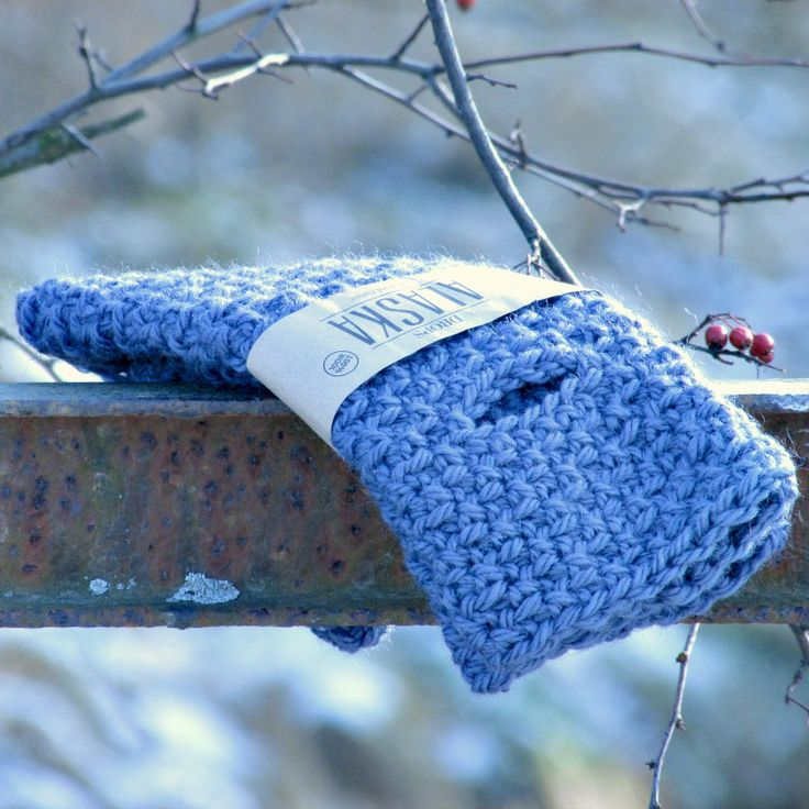 Original crochet arm warmers * dark blue * wool / alpaka