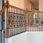 44 in. x 0.5 in. Satin Black Double Knuckle Metal Baluster I354D-H02-0000D at The Home Depot - Mobile