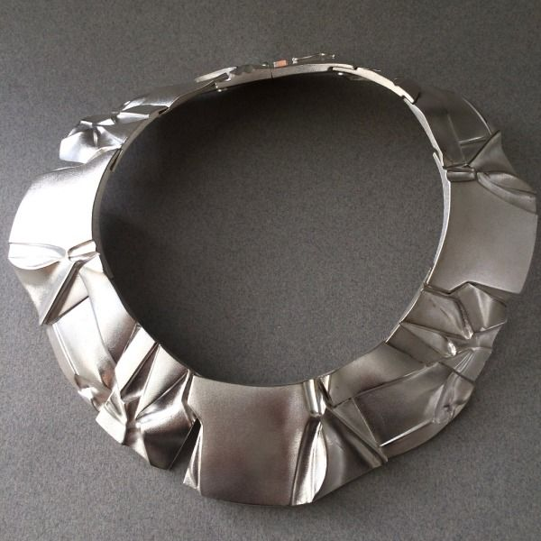 "Gallery 925 - Lapponia Modernist ""Poema"" Necklace by Bjorn Weckstrom, Handmade Sterling Silver"