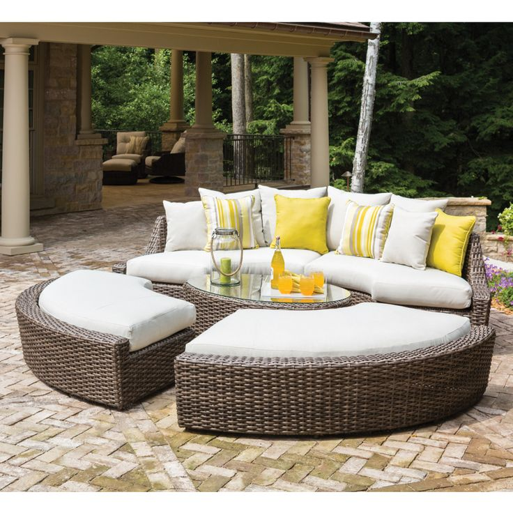 11 best outdoor wicker patio sectionals images on pinterest