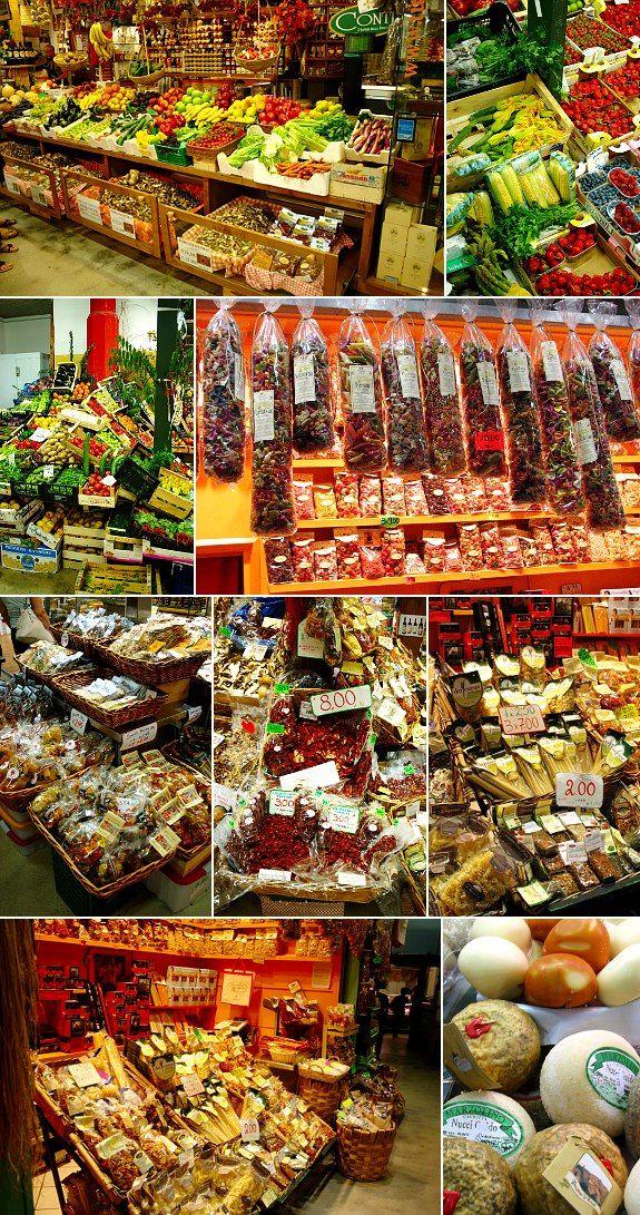 Inside the central market in Florence / No interior do mercado central de Florença