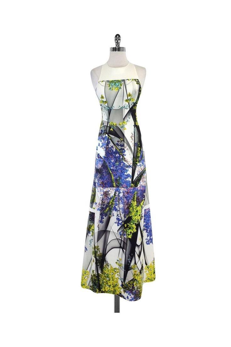 Clover Canyon- Multi-Color Floral Neoprene Maxi Dress Sz S   Current Boutique