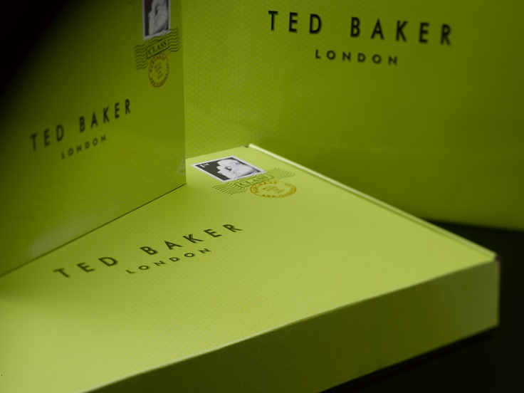 Ted Baker Web Boxes.A range of corrugate boxes lined inside and out and printed with the distinctive Ted Baker branding