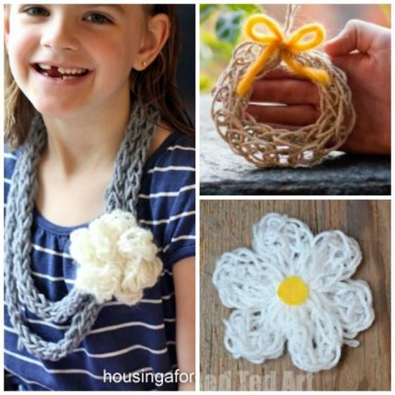 """So many wonderful finger knitting ideas - find a great """"finger knitting tutorial"""" + many ideas of what to make out of your knitting!"""