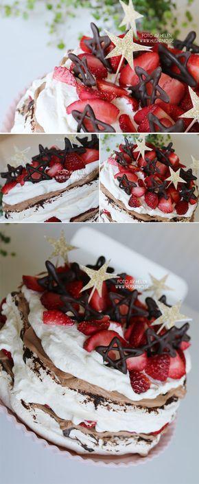 Marängdröm med mjölkchokladfluff & jordgubbar   HUSnrNIO V2