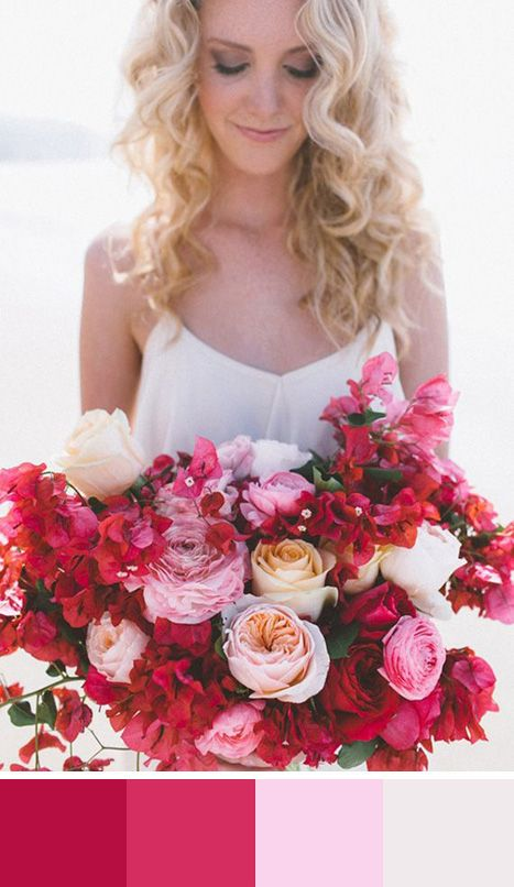 Pink and red bouquet  Source 100 layer cake #bouquet #pink #red