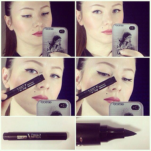 Super easy eyeliner application with a pupa eyeliner pen ❤️