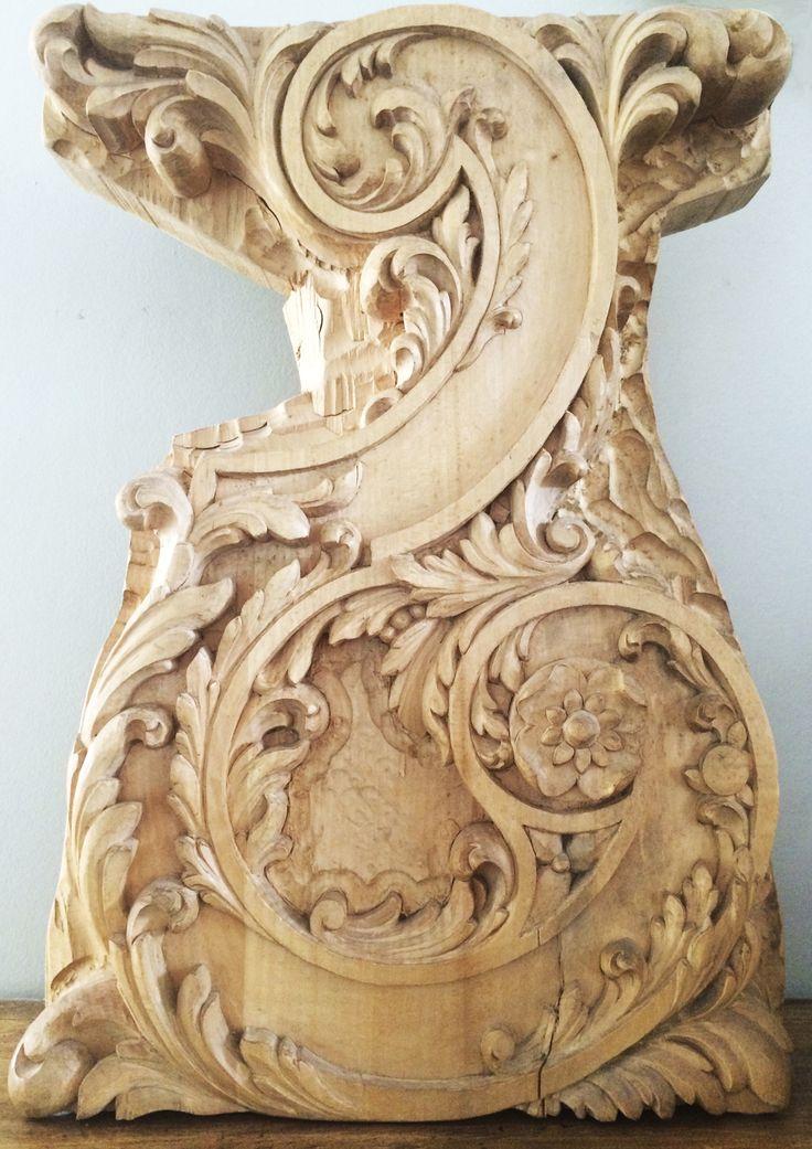 Modello in legno di pero per studio di gamba di un tavolo. Collezione privata di STRA-DE STRATEGIC-DESIGN