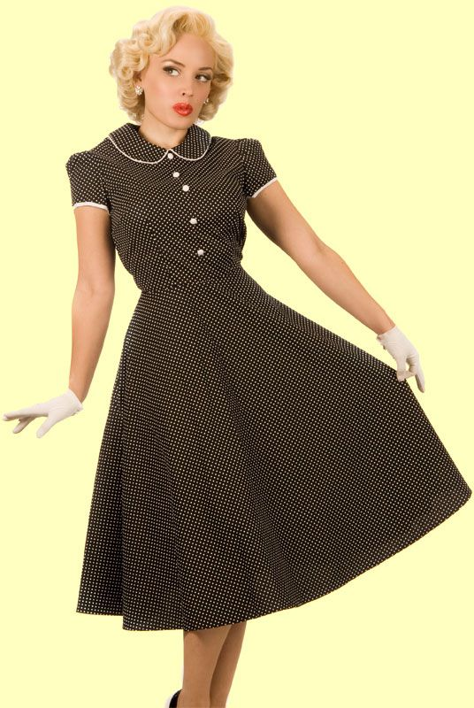 Daddy-O's Chelsea Black and White polka dot dress