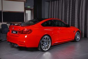 Ferrari Red BMW M4 Oozing Sex Appeal With M Performance Goodies