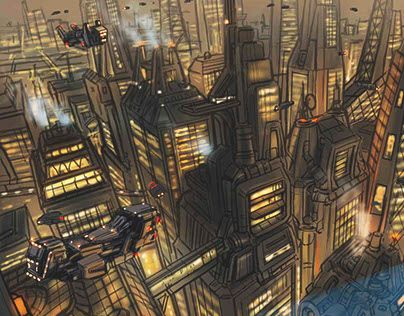 """Check out new work on my @Behance portfolio: """"City Concept Art"""" http://be.net/gallery/35786717/City-Concept-Art"""