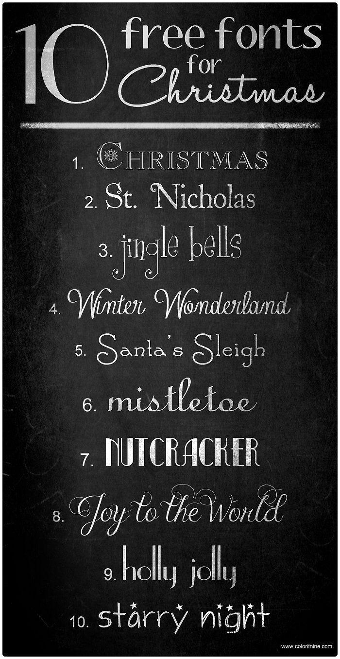 Free Christmas fonts.