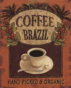 Coffee is one of Brazil's major exports -- and delights.  It grows in the rugged mountainous region of the country, and is enjoyed around the world, including at my own breakfast table.