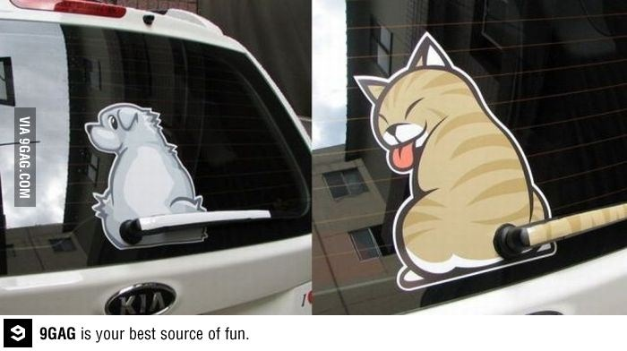 Cat wiper decal. i need this!