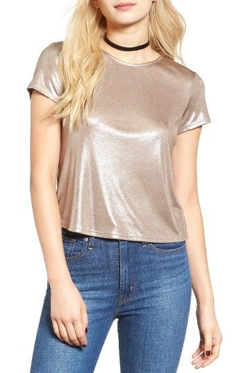 Free shipping and returns on Soprano Metallic Tee at Nordstrom.com. Alight with silvery gleam, this short-sleeve crewneck tee turns every move into a moment to shine.