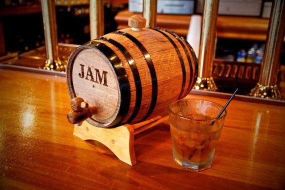 For Father's Day, dad will love his very own engraved mini whiskey barrel - a very nice Etsy find.