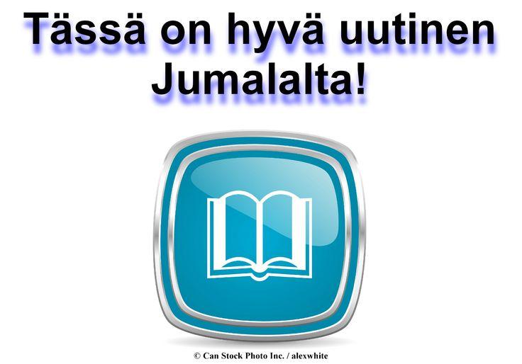 Tämä maailma on usein vaarallinen ja pelottava paikka! Tarvitsemme apua. Tarvitsemme toivoa että Jumala aikoo tehdä jotain pelastaa meidät - ja pian! Raamatussa Jumala lupaa pelastaa planeettamme ennen kuin on liian myöhäistä. Napsauta tätä lue tämä esite verkossa tai lataa se maksutta: www.jw.org/fi/julkaisut/kirjat/hyv%C3%A4-uutinen-jumalalta/  (In the Bible, God promises to save the planet before it is too late. Click here to read this brochure.)