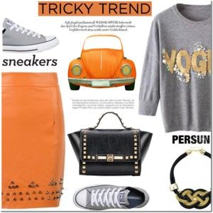 Persun 5 - Tricky Trend: Pencil Skirts and Sneakers