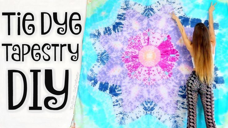 DIY TAPESTRY - Mandala Bed Sheets Tie Dye - Star Tie-Dye How To - SoCraf...