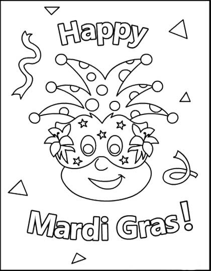 mardi gra coloring pages   Happy Mardi Gras Coloring Page For Kids   mardi gras ...