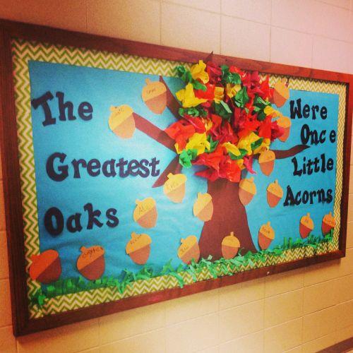 The Greatest Oaks fall bulletin board