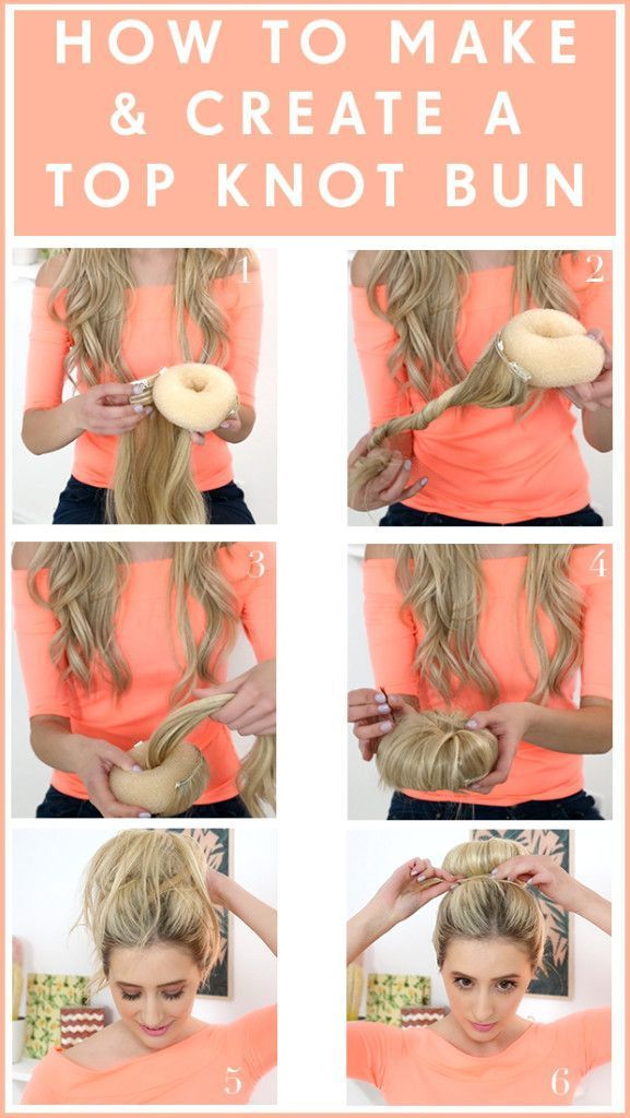 Feeling creative? Create your own top knot bun with hair extensions! Follow this hair tutorial to achieve the look.