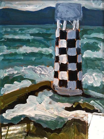 The Lighthouse. New Zealand landscape painting