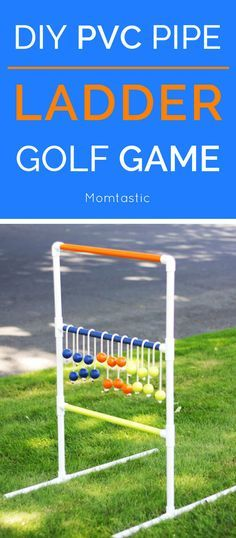 I've wanted to make one of these PVC pipe ladder golf games for a while, and now that I have one, I can't wait to play all summer long!