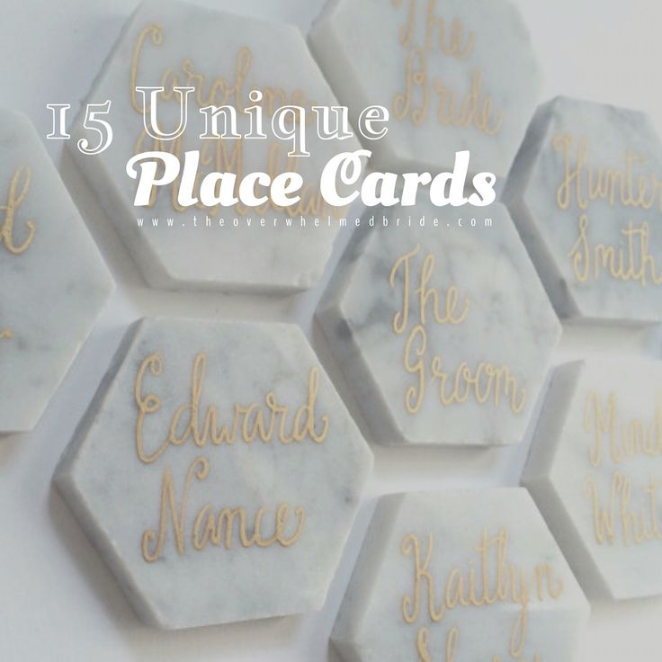 279 best seating charts escort cards images on pinterest Unique place card ideas