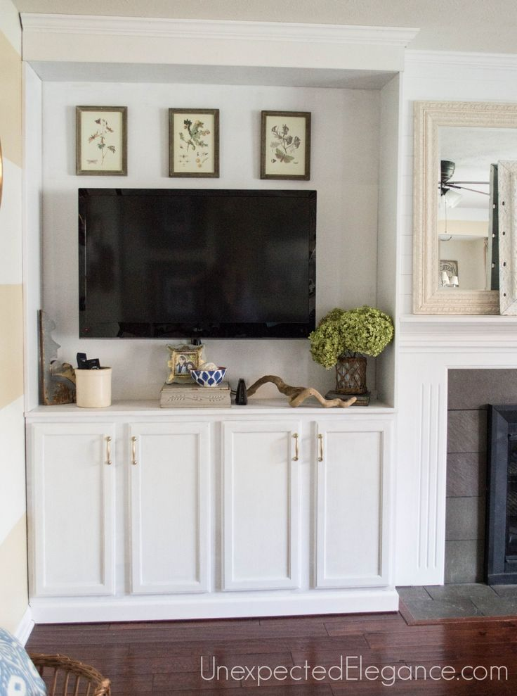 See How To Transform You Your Living Room With DIY Fireplace Built Ins If