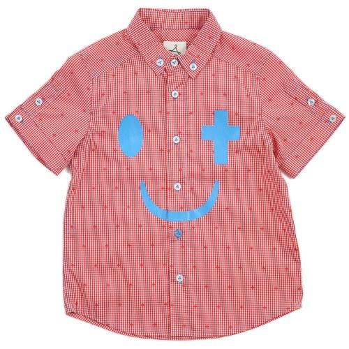 Boy Red Check Short Sleeves Shirt - Joy in Christ