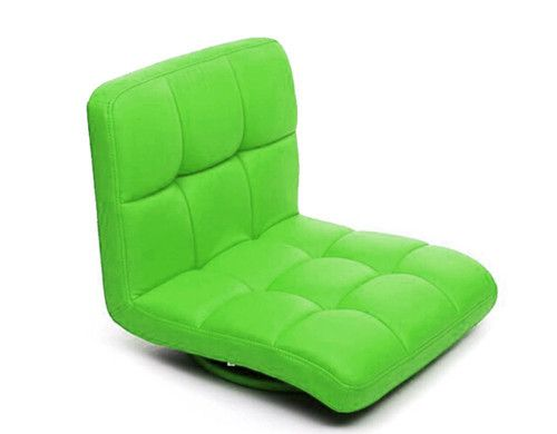Green Chair for Living Room Floor Seating Furniture 360 Degree Rotating Japanese Style Tatami Zaisu Legless PU Leather Chair
