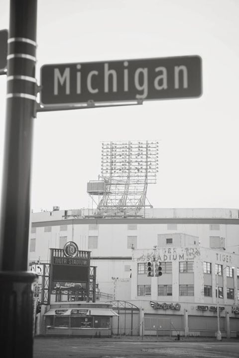 Detroit's Tiger Stadium, on the corner of Michigan and Trumbull (formerly Briggs Stadium where Lions also played).