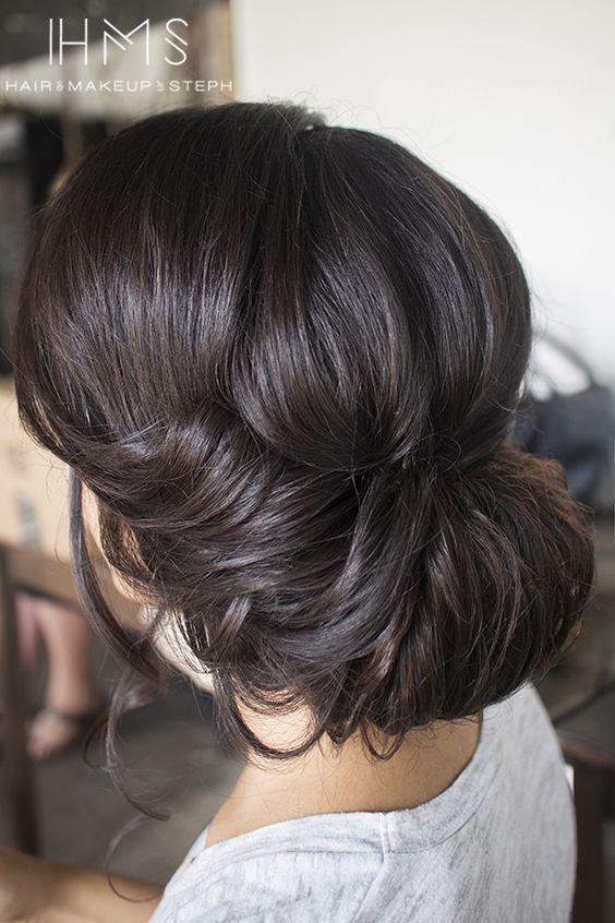 wedding chignon updo hairstyle / http://www.himisspuff.com/beautiful-wedding-updo-hairstyles/6/