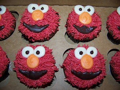 Best 25 Elmo cupcakes ideas on Pinterest Cookie monster