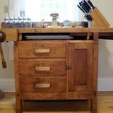click thumbnails for larger pics Kitchen islands can be pricey, but they don't have to be. Almost anything can become one, as long as it's an appropriate height. Click below to see how file cabinets, dressers, card catalogs, antique counters, and lab tables can be transformed into kitchen furniture...