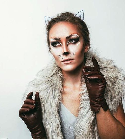 fox makeup in halloween makeup