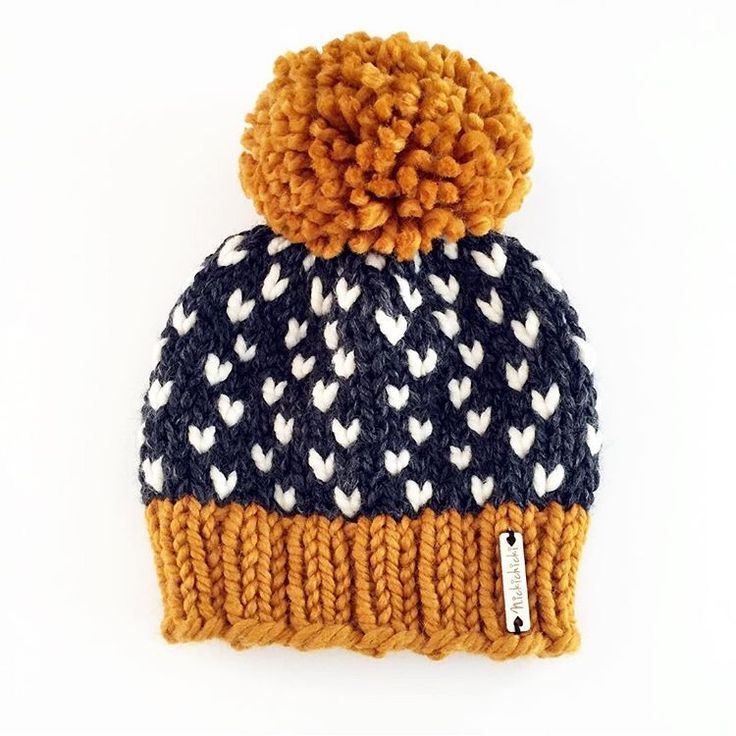 Pompom beanie, chunky knitwear, big pompom, giant pompom, heart hat, winter styl…